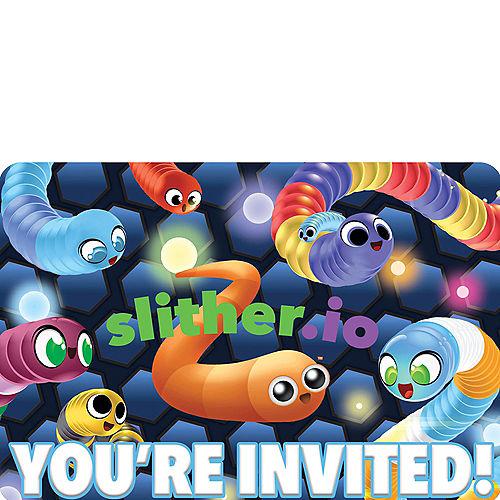 Slither.io Invitations 8ct Image #1