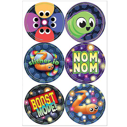 Slither.io Stickers 4 Sheets Image #1