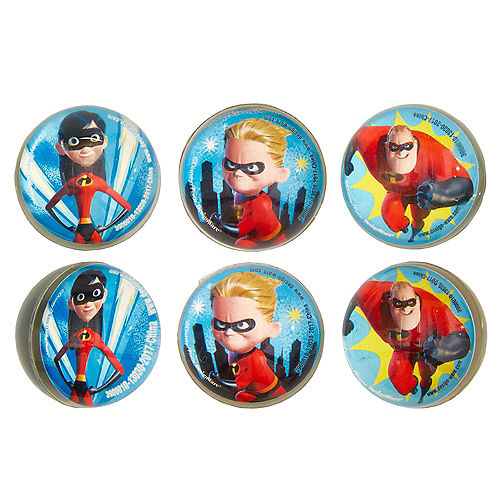 Incredibles 2 Bounce Balls 6ct Image #1