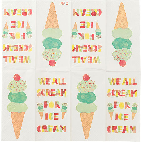 Dots & Ice Cream Napkins Duo Pack 20ct Image #2