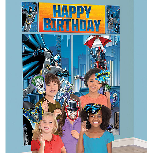 Batman Scene Setter with Photo Booth Props Image #1