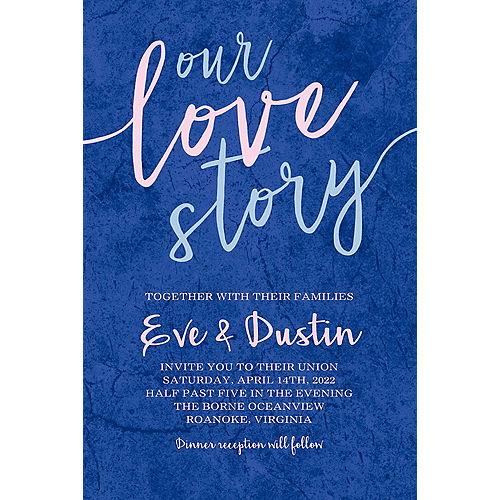 Custom Our Love Story Wedding Invitation Image #1