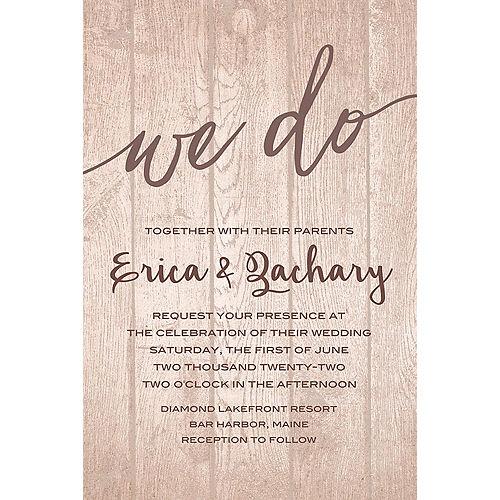 Custom Whimsical Wood Wedding Invitation Image #1