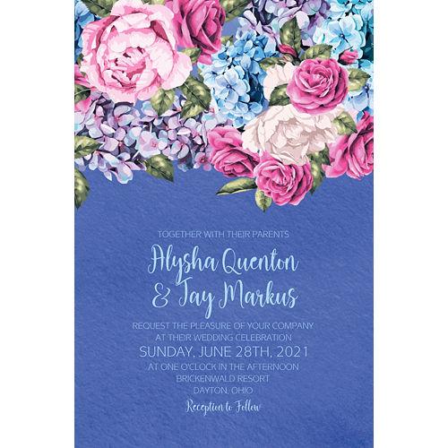 Custom Renaissance Floral Wedding Invitation Image #1