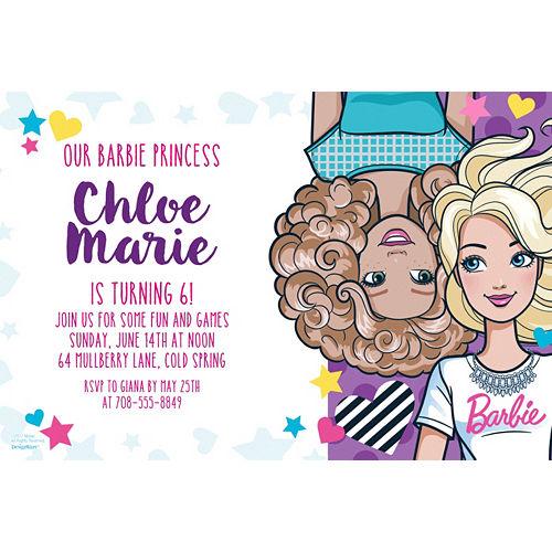 Custom Barbie Invitation Image #1