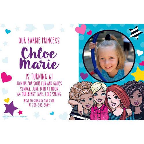 Custom Barbie Photo Invitation Image #1