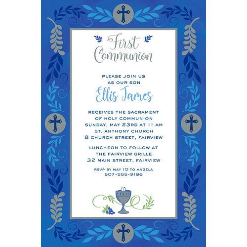 Custom Communion Day Boy Invitation Image #1