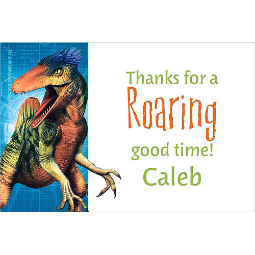 Custom Jurassic World Thank You Note Image #1