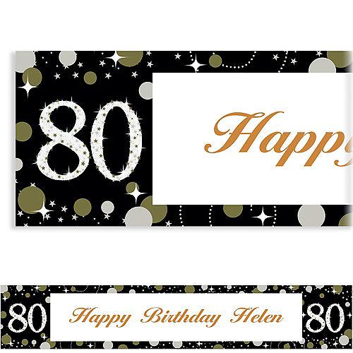 Custom Sparkling Celebration 80 Banner Image #1