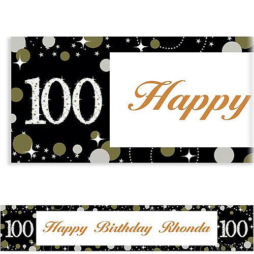 Custom Sparkling Celebration 100 Banner Image #1