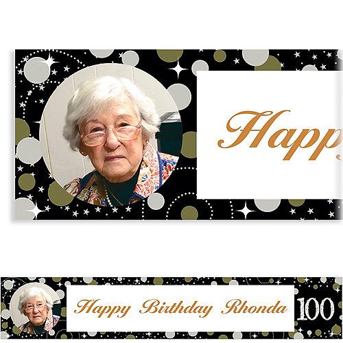 Custom Sparkling Celebration 100 Photo Banner Image #1