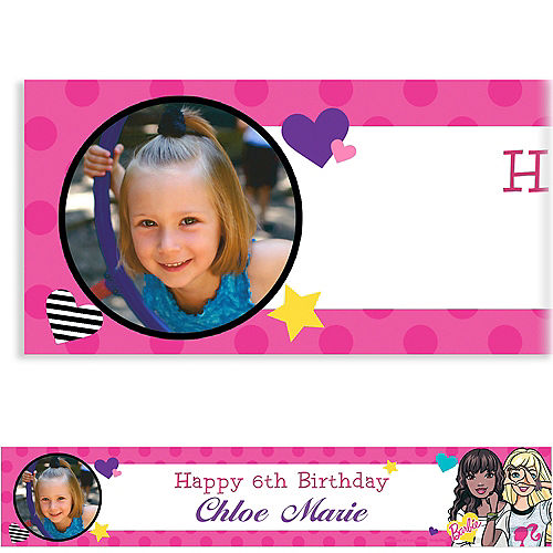 Custom Barbie Photo Banner Image #1