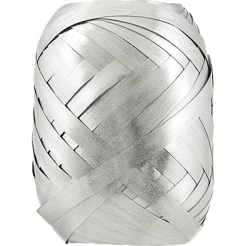 Metallic Silver Curling Ribbon Keg Image #1