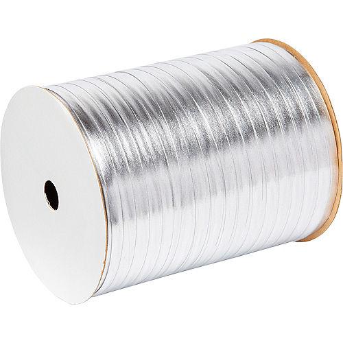 Metallic Silver Curling Ribbon Image #1