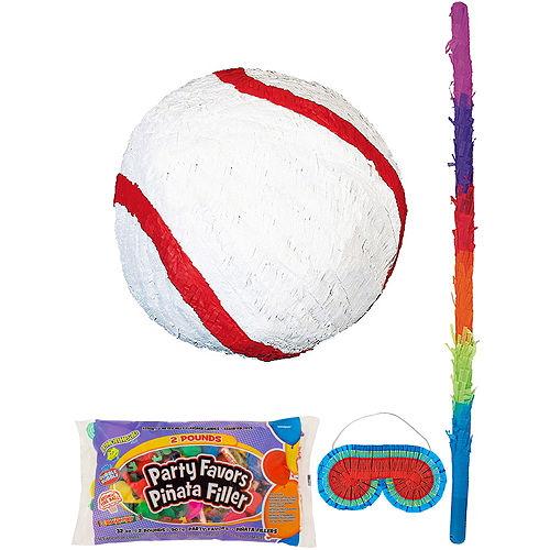 Baseball Pinata Kit with Candy & Favors Image #1