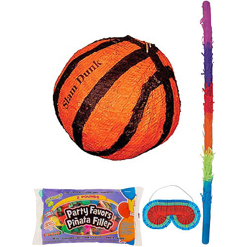 Slam Dunk Basketball Pinata Kit with Candy & Favors Image #1