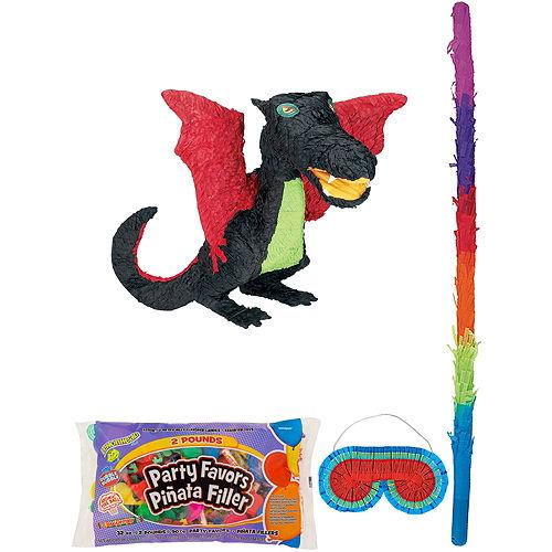 Black Dragon Pinata Kit with Candy & Favors Image #1