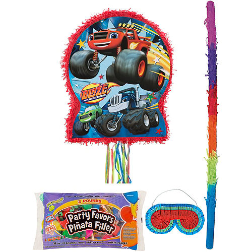 Blaze and the Monster Machines Pinata Kit with Candy & Favors Image #1