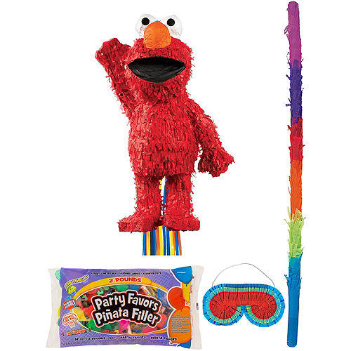 Elmo Pinata Kit with Candy & Favors Image #1