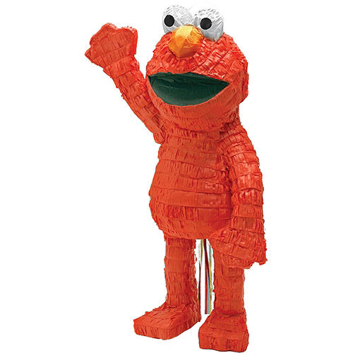 Elmo Pinata Kit with Candy & Favors Image #2