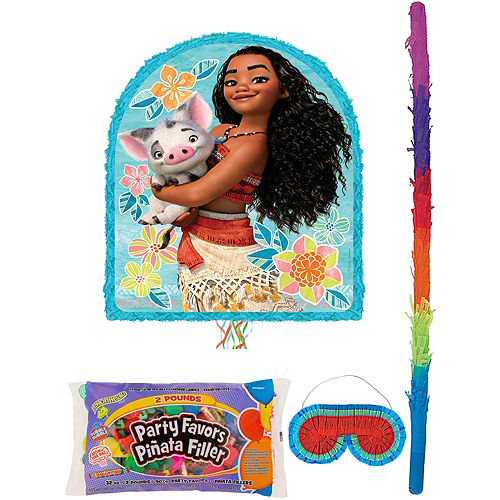 Moana Pinata Kit with Candy & Favors Image #1