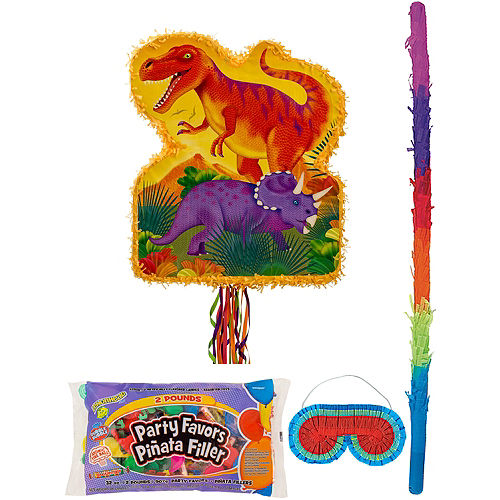 Prehistoric Dinosaurs Pinata Kit with Candy & Favors Image #1