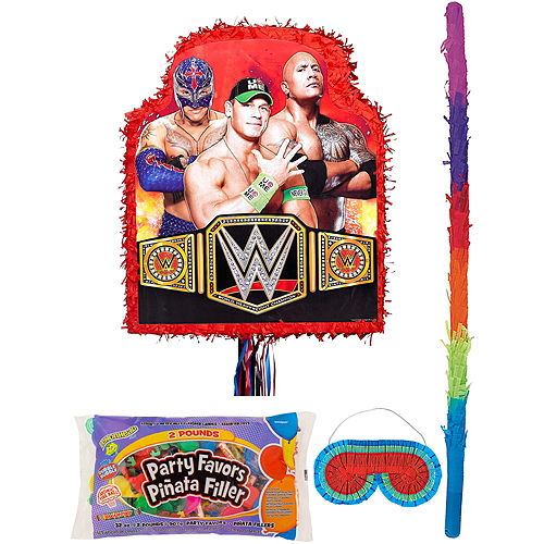 Red WWE Pinata Kit with Candy & Favors Image #1
