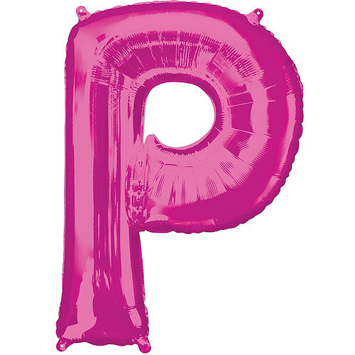 Giant Pink Party Letter Balloon Kit 6pc Image #4