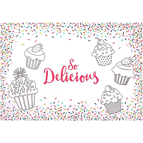 Colorful Sprinkles Coloring Placemats 24ct Image #1