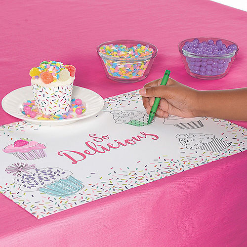 Colorful Sprinkles Coloring Placemats 24ct Image #2