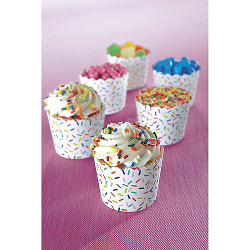 Mini Colorful Sprinkles Scalloped Bowls 36ct Image #2