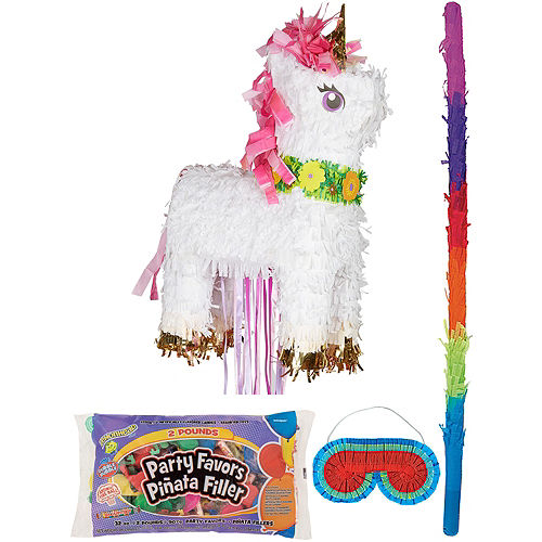 Sparkling Unicorn Pinata Kit with Candy & Favors Image #1