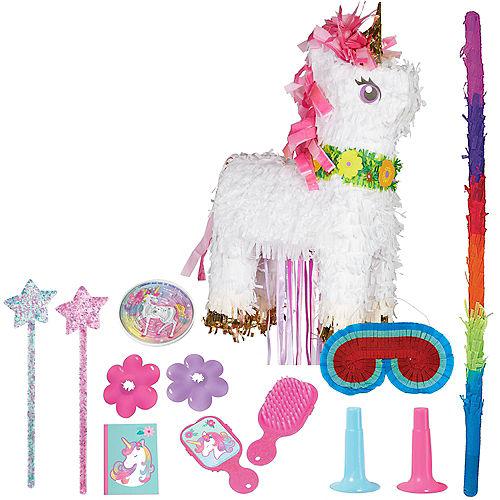 Sparkling Unicorn Pinata Kit with Favors Image #1