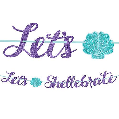 Glitter Mermaid Letter Banner Image #1