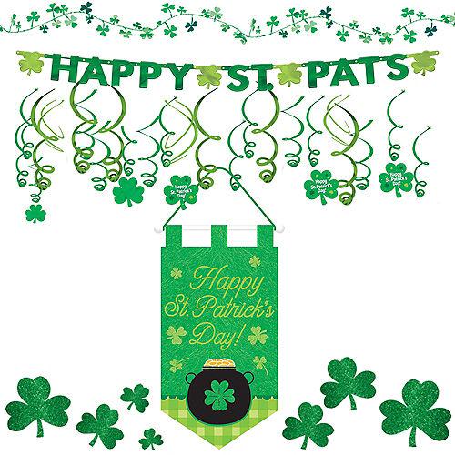 Happy St. Patrick's Day Shamrock Super Decorating Kit Image #1