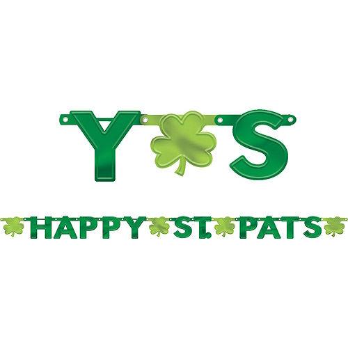 Happy St. Patrick's Day Shamrock Super Decorating Kit Image #2