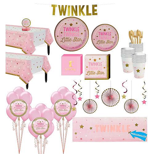 Pink Twinkle Twinkle Deluxe 32ct Tableware Kit Image #1