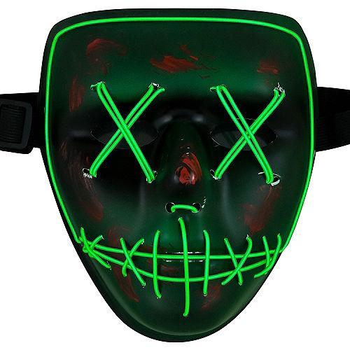 Light-Up Green Stitch Face Mask Image #1