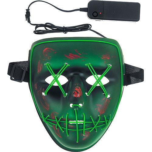 Light-Up Green Stitch Face Mask Image #2