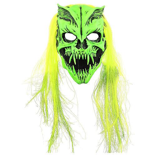Adult Black Light Skull Monster Face Mask Image #1