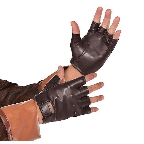 Brown Fingerless Gloves Image #1