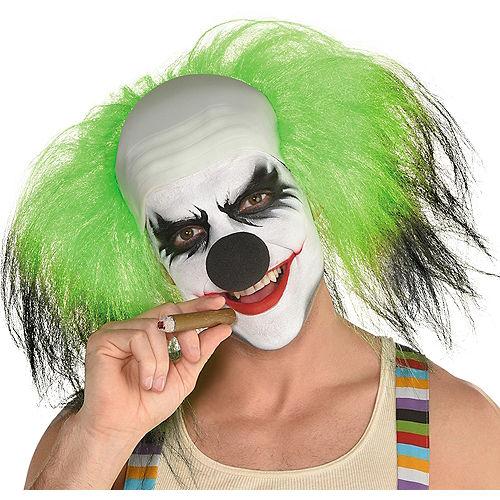 Black & Green Clown Wig Image #1