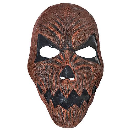 Adult Demonic Jack-o'-Lantern Mask Image #1
