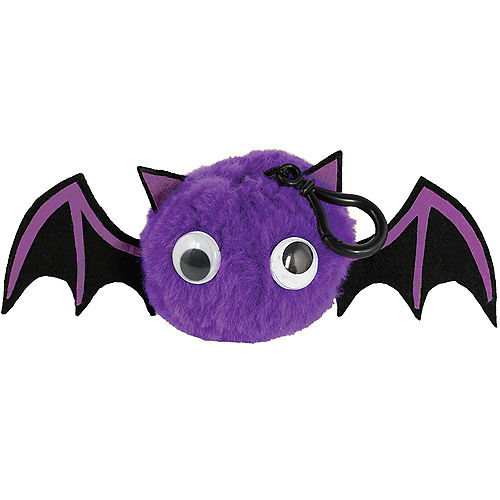 Clip-On Purple Bat Plush Image #1