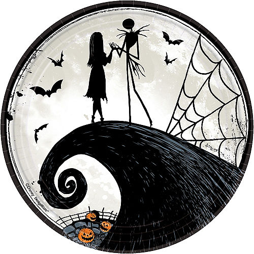 The Nightmare Before Christmas Lunch Plates 8ct Image #1