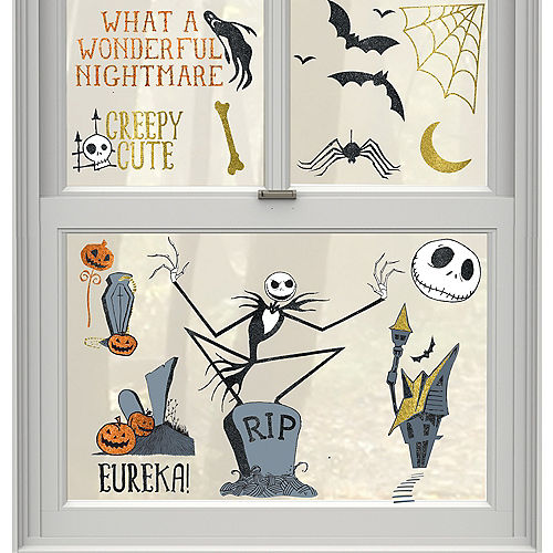 The Nightmare Before Christmas Cling Decals 15ct Image #1