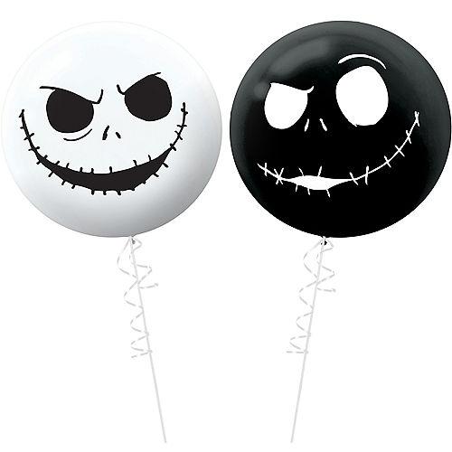 Jack Skellington Balloons 2ct - The Nightmare Before Christmas Image #1