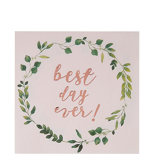 Rose Gold Best Day Ever Lunch Napkins 16ct Image #1