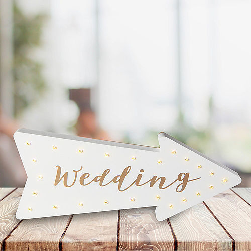 Light-Up Wedding Arrow Marquee Sign Image #1
