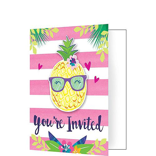 Striped Tropical Invitations 8ct Image #1